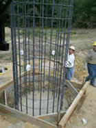 Installing a Rebar Cage